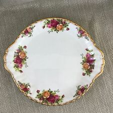 Royal Albert Old Country Roses Cake Sandwich Plate England China Floral