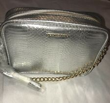 Victoria's Secret Crossbody Bag Purse Bling Fashion Show Exclusive 2016 Silver