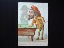 New listing 1880s Antique Billiards Trade Card (RARE!) <<<
