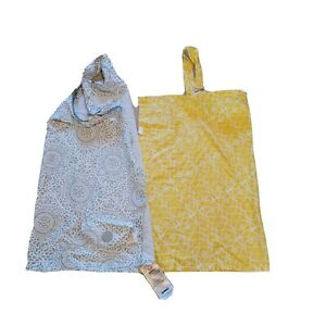 Lot 2 Nursing Breastfeeding Baby Covers Yellow & Gray by Boppy & Udder Covers