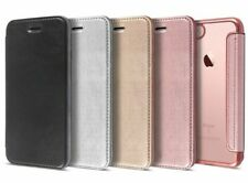 Flip Leather Glossy Transparent Wallet Card Case Cover For iPhone 6S 7 8 Plus XS