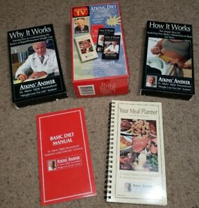 Atkins Diet  Weight Loss For Life System Box Set  2 VHS Tapes and Meal Planner
