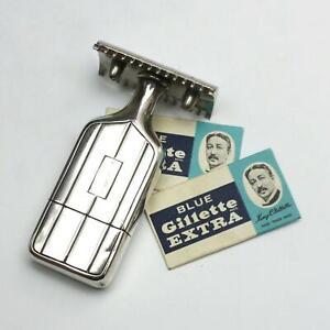 Vintage Gillette Sterling Silver Handle Open Tooth Comb DE Travel Safety Razor