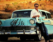 EDDIE VAN HALEN SIGNED PHOTO 8X10 RP AUTOGRAPHED WITH HIS 1956 CHEVY NOMAD