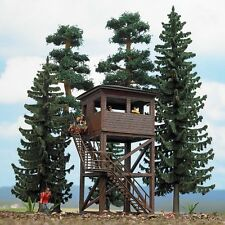 Busch 6394 Forest Set with Lookout Tower Plastic Kit - HO Scale  Tracked 48 Post