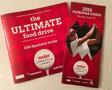 2016 GOLF Spectator Guide + Pairings Guide MEIJER LPGA Classic Blythefield CC !!