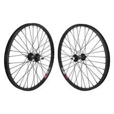 Wheel Masters 20in Alloy BMX Bicycle Wheelset - 20X1.75 406X19 Aly Black 36 -