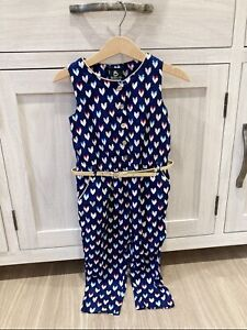 Sista Toddler New Belted Navy jumpsuit Size2