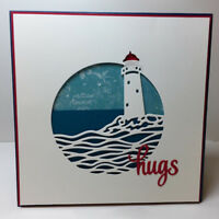Metal Cutting Dies Circle Lighthouse Background DIY Paper Embossing Card Stencil