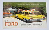 1960 Ford Station Wagon Sales Brochure Booklet Catalog Book Old Original