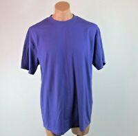 Vtg 80s 90s Fashion Gear Heavyweight T-shirt sz XL USA Fabric Purple Blank NWOT