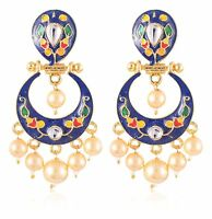 Lovely Women's Fashion Gold Plated Indian Handmade Design Earrings Jewelry Girls