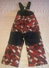 NEW Lands End Boys Size 4 The Squall Grow A Longs Plaid Snow Ski Bibs Pants NWTS
