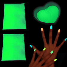 Glow in Dark Pigment Fluorescent Powder DIY Nail Art Painting Costumes Face Acc