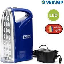 Luce Lampada di Emergenza Portatile Ricaricabile 21 Led 250 Lumen Blu