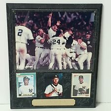 "Vintage NY YANKEES 1996 World Series Champs Plaque 15"" X 12"" Rectangular & Heavy"