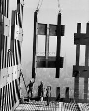 CONSTRUCTION WORKERS ON TOP FLOORS OF THE WORLD TRADE CENTER 8X10 PHOTO (FB-368)