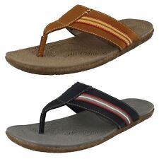 MENS HUSH PUPPIES FRAME TOE POST CASUAL SLIP ON BEACH LEATHER SUMMER SANDALS