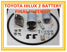 TOYOTA HILUX 3.0L D4D 2 BATTERY SECONDARY FILTER KIT. WATER SEPARATOR KIT.