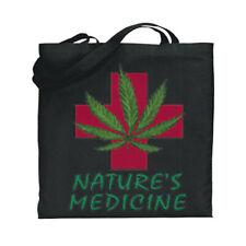 Medical Marijuana Cannabis Pot Weed 420 Canvas Tote Book Bag Stoner Gifts