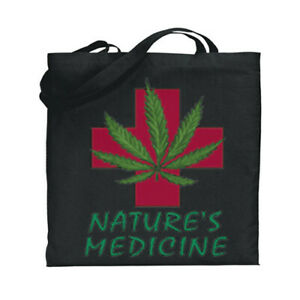 Medical Marijuana Cannabis Pot Weed 420 Canvas Tote Book Bag Stoner Gifts