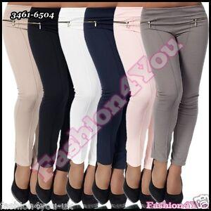 Sexy Ladies Trousers Women's Leggings Skinny Office Pants Size 8,10,12,14 UK