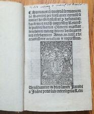 Post Incunable Maillard Sermonum de Sanctis Paris Petit 1516