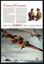 1942 WWII LOCKHEED HUDSON Bomber AD Dunkirk Guarding Fleet  WW II WW2