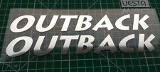 Subaru Outback 200mm x 2 Graphic In Glass Chrome Sticker / Decal