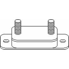 Halter Abgasanlage links - Topran 100 634
