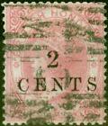 British Honduras 1888 2c on 6d Rose SG25 Good Used