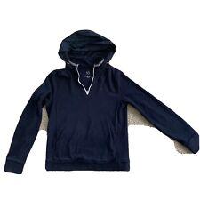 Armani Exchange Men's Hoodie Blue Logo Zip Up Sweatshirt Hidden Hood hideaway