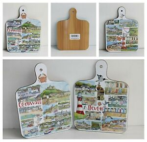 Cornwall or Devon Emma Ball Chopping Board H: 23.75 x W: 17cm Coastal Seaside