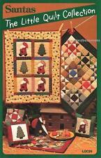 Santas   Miniature Applique & Pieced Quilt Patterns by Little Quits