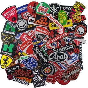 Wholesale Car Motorcycle Biker Racing Auto Motor Sport Sew Iron on Patch Random