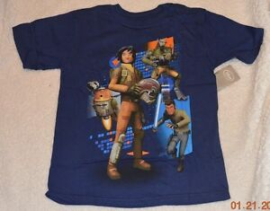 Disney T-shirts tops Boys New Guardian of the Galaxy, Star Wars Size 4, 5/6