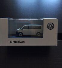 RARE VW T6 7E MULTIVAN CARAVELLE BUS 2018 CANDY WHITE 1:87 HERPA (DEALER MODEL)