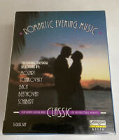 Romantic Evening Music (5 Cassette Tape Set) BRAND NEW.  Mozart, Bach, Beethoven