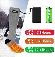 4000mAh Electric Heated Socks Boot Feet Warmer USB Rechargable Battery Warm Sock