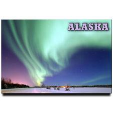 Polar light fridge magnet Alaska travel souvenir Aurora