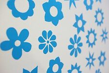 Flowers Wall Art Vinyl Decals/Stickers - Various Colours & Sizes