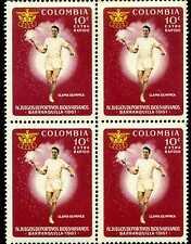 LLAMA OLIMPICA {MEN}- IV JUEGOS BOLIVARIANOS-  B/QUILLA  1961  4 STAMPS-COLOMBIA