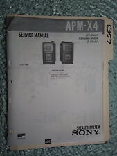 Sony apm-x4 service manual original repair book stereo speakers 4 pages