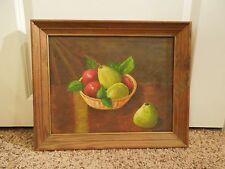 Vintage Acrylic Fruit Bowl Painting Signed By H Rohrer Framed