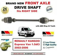 FOR RENAULT KANGOO Express Van 1.5dCi 2002-2006 NEW FRONT AXLE RIGHT DRIVESHAFT