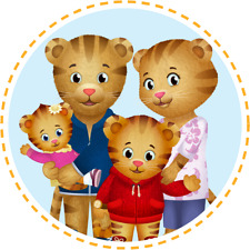 """Daniel Tiger Family Iron On Transfer 5 """"x 5"""" for LIGHT Colored Fabric"""