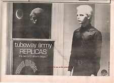 TUBEWAY ARMY (Gary Numan) Replicas 1979 UK Press ADVERT 12x8 inches