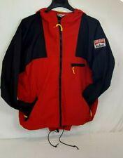 Vintage MARLBORO Adventure Team WINDBREAKER Red Track / Rain Suit Sz L Large