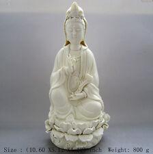 10.6 inch/China dehua white porcelain goddess guanyin bodhisattva