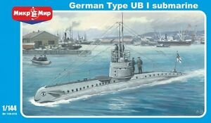 German submarine Type UB I << Micro-Mir #144-016, 1:144 scale